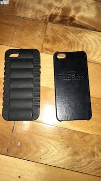 Two black iphone 5 cases  Montréal, H1S 1G2