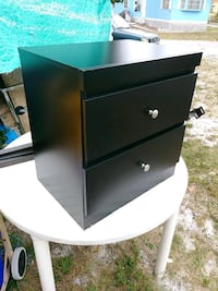 Black 2 drawer nightstand dresser West Palm Beach, 33415