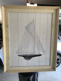 Sailboat Artwork  San Clemente, 92672