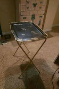 2  Egyptian style tray table