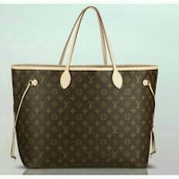 bolso de cuero negro y marrón Louis Vuitton monogram