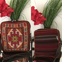 red and black leather crossbody bag Leesburg, 20176