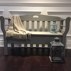 Shabby Chic Rustic  Hall Entryway Storage Bench