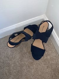Like New Strappy Blue Wedges Johns Creek, 30022