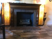 black and brown electric fireplace Arcade, 95825