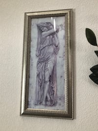 gray and black wooden framed painting of woman Las Vegas, 89142
