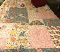 Pottery Barn patchwork butterfly Queen Quilt, Bedspread