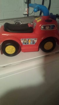 toddler's red and black ride-on toy firetruck Moncton, E1A 4V9