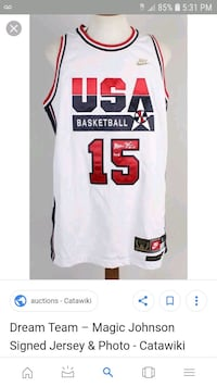 ebca2700e2b Used white and red Nike Chicago Bulls jersey screenshot for sale in  Riverdale - letgo