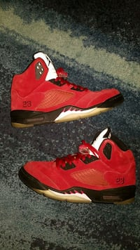 2005 raging bull 5s Red suede (9.5) New Bedford, 02746
