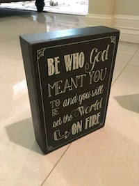 black and white wooden quote board McAllen, 78503