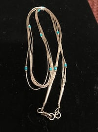 Native American liquid silver and turquoise necklace Silver Spring, 20904