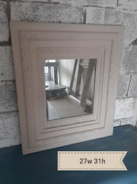 size 27 w gray-framed mirror Raleigh, 27612