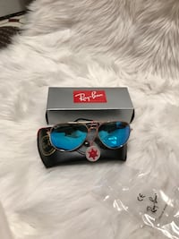 Black ray-ban aviator sunglasses with case Reston, 20190