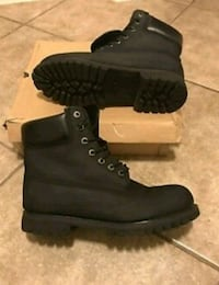 pair of black Timberland work boots Washington, 20002