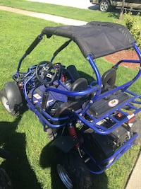 black and blue dune buggy 588 mi