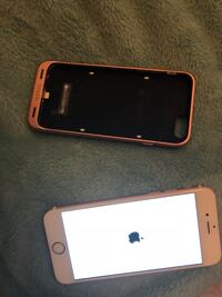 gold iPhone 6 with brown Mophie case Phoenix, 85353