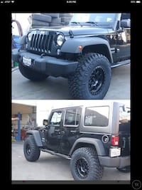 """3"""" lift kit installed , 5 new 17x9 wheels and 5 new 35 inch mt tires for Jeep Wrangler jk Los Angeles, 91352"""