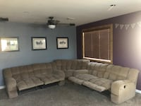 5 piece Brown Microfiber sectional couch  Las Vegas