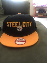 black and orange San Francisco 49ers fitted cap Louisville
