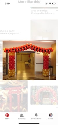 Chinese New Year Pagoda balloon decor  Woodbridge, 22192