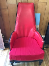 Red Leather Chair -$75