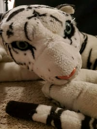 Very very large white Bengal Tiger stuffy