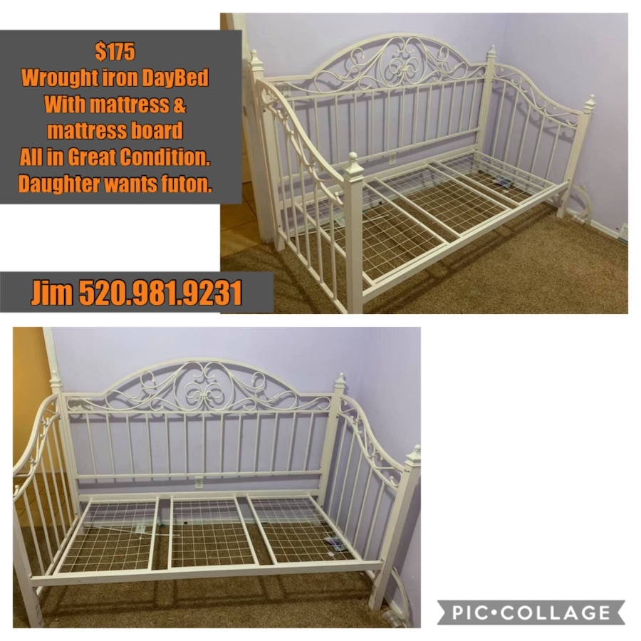 - Used Wrought Iron Daybed + Mattress For Sale In Red Rock - Letgo