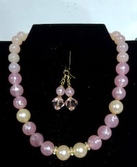 Made at home pink and white pearl design with quality materials and findings  Toronto, M4L 3B4