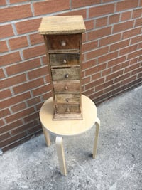 Rustic Wood Six Drawer Tower Mississauga, L5H 2T1