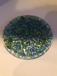 Glass Candle plate  Las Vegas, 89115
