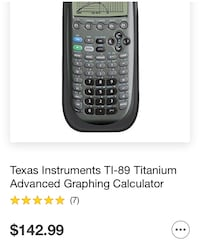 Ti-89 Graphing Calculator West Haven, 97225