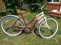 red and white cruiser bike Dayton, 45403
