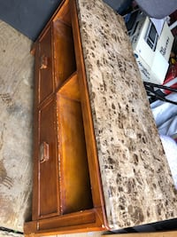 Tv stand or coffee table Marble top two drawers wonderful condition