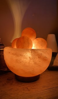 Himalayan Salt lamp *with heated massage stones*