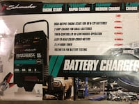 12 volt fully automatic battery charger with engine start (its damaged because of shipping but it works great)   San Antonio, 78216