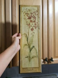 Wooden flower print picture