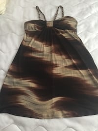 Multi colored brown mini dress/ extra large Springfield, 22150