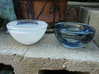 Two Glass Votive Candle Holders