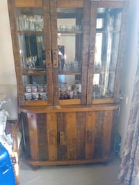 brown wooden framed glass display cabinet Mumbai, 400095