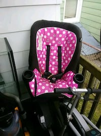 baby's pink and black polka dot swing chair Hagerstown
