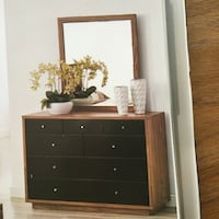 black wooden dresser with mirror 列治文山, L4S 2N8