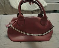 borsa in pelle bordeaux