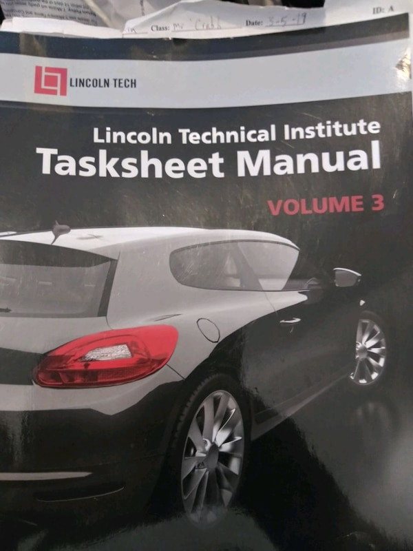 Lincoln tech automotive technology book 1