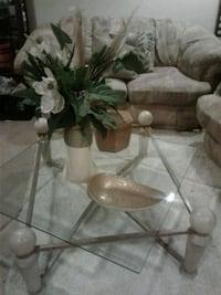 Glass Coffee Table w/End Table Silver Spring, 20906