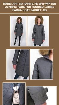 Limited Edition ARITZIA PARKLIFE 2010 Winter Olympic Faux Fur Hooded Down Parka Coat Jacket Size:XS**Christmas Special**Additional -15% off  Richmond, V7A 1H2