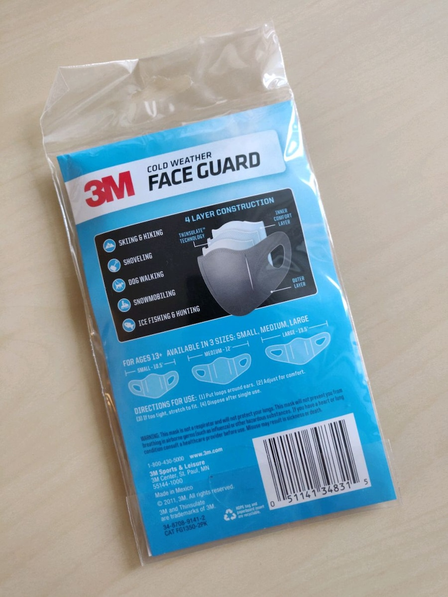 3M COLD WEATHER FACE GUARD package of 2