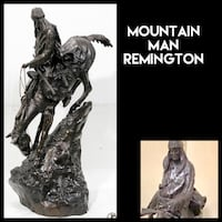 FREDERIC REMINGTON, AFTER (1861-1909) 'Mountain Man', authentic with wooden display stand MONARCH BAY