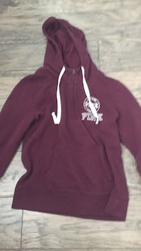 Maroon and white pullover hoodie Essa, L0M