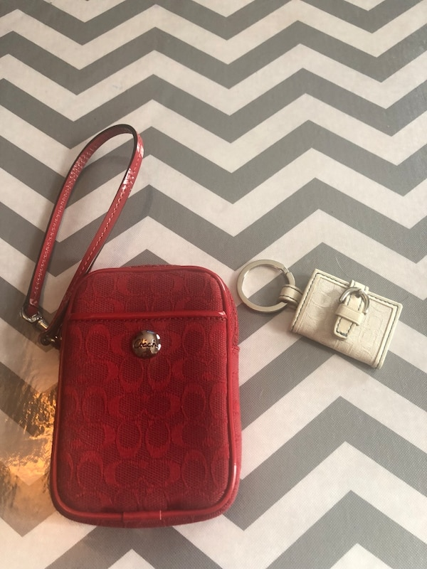 Coach case and key ring